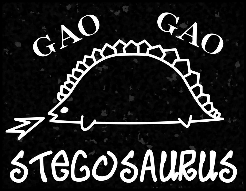 ステゴサウルスのTシャツ